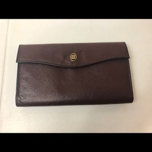 Lady Buxton Wine / Brown Leather Vintage Wallet